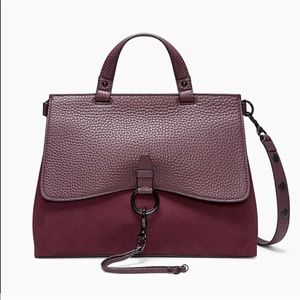 NEW Rebecca Minkoff Burgundy Leather Satchel
